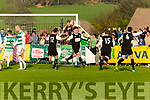 Jamie Spillane Celtic turns to celebrate with his team mates after scoring the last minute equaliser against Sheriff in the FAI cup semi final on Saturday