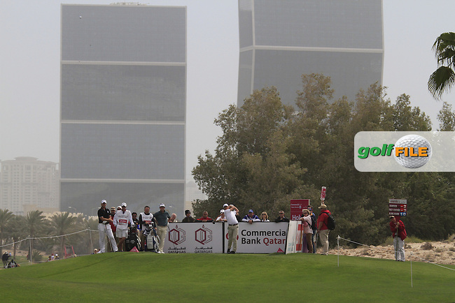 Anders Hansen (DEN) tees off on the 7th tee during Saturday's Round 2 of the 2012 Commercialbank Qatar Masters presented by Dolphin Energy at Doha Golf Club, Qatar, 4th February 2012 (Photo Eoin Clarke/www.golffile.ie)