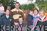 Bridget Cahill, James Wharton, Griffin Wharton, Aidan Walsh, Mary Walsh and Ann Walsh, all Abbeyfeale ,looking at the stallions at Kenmare Fair on Wednesday..
