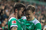 08.03.2019, Weser Stadion, Bremen, GER, 1.FBL, Werder Bremen vs FC Schalke 04, <br /> <br /> DFL REGULATIONS PROHIBIT ANY USE OF PHOTOGRAPHS AS IMAGE SEQUENCES AND/OR QUASI-VIDEO.<br /> <br />  im Bild<br /> <br /> Jubel Martin Harnik (Werder Bremen #09) Tor 4:2 Max Kruse (Werder Bremen #10)<br /> <br /> Foto &copy; nordphoto / Kokenge