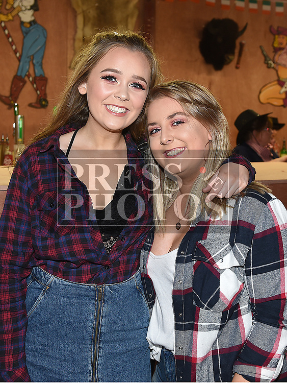 Brianna Keogh and Lauren Deegan at the Big Country night in Cushinstown Athletic Club in aid of the Oncology Unit at Our Lady of Lourdes Hospital. Photo:Colin Bell/pressphotos.ie