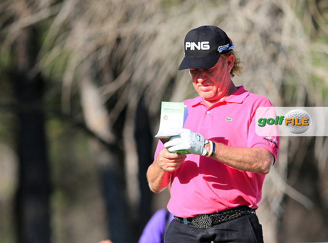 Miguel Angel JIMENEZ (ESP) during round 2 of the Turkish Airlines Open presented by the Ministry of Tourism and Culture, hosted at the The Montgomerie Maxx Royal,Antalya,Turkey.<br /> Picture: Fran Caffrey www.golffile.ie