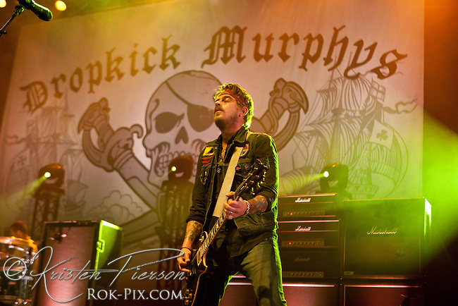 BOSTON, MA - SEPTEMBER 21: Dropkick Murphys perform on September 21, 2012 at Bank of America Pavilion in Boston, Massachusetts
