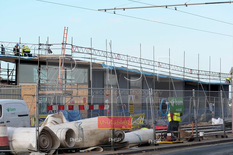 16/02/2011 Blackpool Lancashire UK.New Registry Office under construction on Central Promenade...© Phill Heywood.