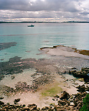 AUSTRALIA, kangaroo Island, Vivonne bay, seascape against cloudy sky