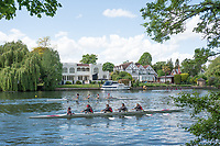 Maidenhead. Berkshire. United Kingdom. General view, JW4X at the start of their heat on the course of the 2017 Maidenhead Junior Regatta  River Thames. <br /> <br /> [&copy;Peter SPURRIER/Intersport Images] Sunday. 14.05.2017