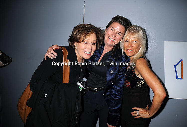 "Marj Dusay, Fiona Hutchison and Ilene Kristen. actress on One Life to Live..at the after party for the play reading of ""Laugh Lines"" ..written by Penny Bergman and starring Kim Zimmer, Marj Dusay, of Guiding Light, Ilene Kristen, of One Life to Live, Bobbie Eakes and Melissa Claire Egan of All My Children on ..May 10, 2008 at The Chashama Theatre in New York City. ....Robin Platzer, Twin Images"