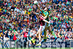 David Moran Kerry in action against Paul Conroy Galway in the All Ireland Senior Football Quarter Final at Croke Park on Sunday.