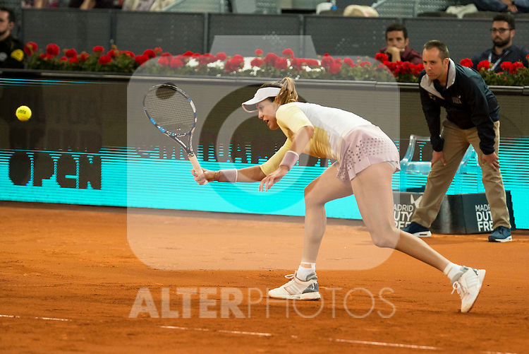 Spanish Gabiñe Muguruza during Mutua Madrid Open Tennis 2016 in Madrid. May 2, 2016. (ALTERPHOTOS/BorjaB.Hojas)