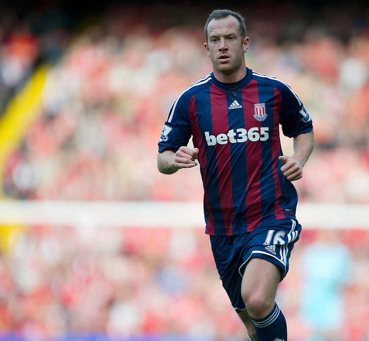 Stoke City's Charlie Adam returns to Anfield for the first time since his transfer..Football - Barclays Premiership - Liverpool v Stoke City - Sunday 7th October 2012 - Anfield - Liverpool..