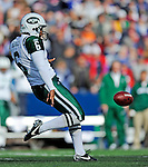 2 November 2008:  New York Jets' punter Reggie Hodges in action against the Buffalo Bills at Ralph Wilson Stadium in Orchard Park, NY. The Jets defeated the Bills 26-17 improving their record to 5 and 3 for the season...Mandatory Photo Credit: Ed Wolfstein Photo