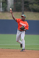 Jemile Weeks of the Miami Hurricanes vs. the Virginia Cavaliers: March 24th, 2007 at Davenport Field in Charlottesville, VA.  Photo by:  Mike Janes/Four Seam Images