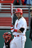 St.John's Red Storm catcher Joe Witkowski (9)  during a game vs. the Cincinnati Bearcats at Jack Kaiser Stadium in Queens, NY;  March 25, 2011.  St. John's defeated Cincinnati 3-2.  Photo By Tomasso DeRosa/Four Seam Images
