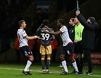 Bolton Wanderers' Gary O'Neil is substituted for Clayton Donaldson <br /> <br /> Photographer Andrew Kearns/CameraSport<br /> <br /> The EFL Sky Bet Championship - Bolton Wanderers v Sheffield Wednesday - Tuesday 12th March 2019 - University of Bolton Stadium - Bolton<br /> <br /> World Copyright © 2019 CameraSport. All rights reserved. 43 Linden Ave. Countesthorpe. Leicester. England. LE8 5PG - Tel: +44 (0) 116 277 4147 - admin@camerasport.com - www.camerasport.com