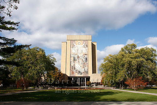 "Oct. 29, 2008; South Bend, IN - University of Notre Dame. ""Touchdown Jesus""..Photo credit: Darrell Miho"