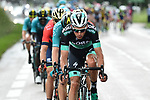 Bora-Hansgrohe lead the peleton during Stage 2 of the 2018 Criterium du Dauphine 2018 running 181km from Montbrison to Belleville, France. 5th June 2018.<br /> Picture: ASO/Alex Broadway | Cyclefile<br /> <br /> <br /> All photos usage must carry mandatory copyright credit (&copy; Cyclefile | ASO/Alex Broadway)
