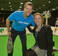 12-02-14, Netherlands,Rotterdam,Ahoy, ABNAMROWTT, Esther Vergeer(NED) and Sven Groeneveld(NED) Kids day <br />