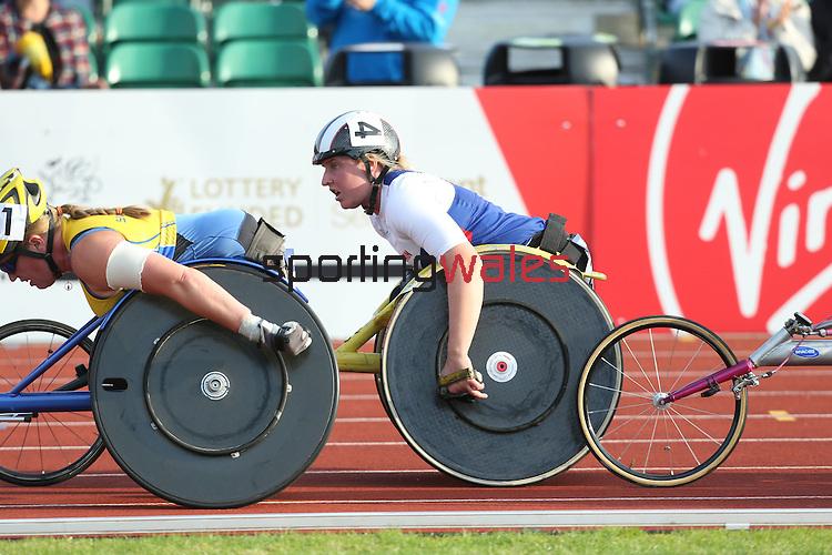 IPC European Athletics Championship 2014<br /> Shelly Woods GBR <br /> Women's 5000m T54<br /> Swansea University<br /> 20.08.14<br /> &copy;Steve Pope-SPORTINGWALES