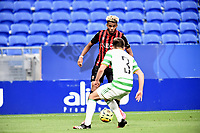 16th July 2020; Nice, France; Veolia Trohy Football friendly, OGC Nice versus Celtic FC;  Ishan Sacko nice takes on Greg Taylor celtic