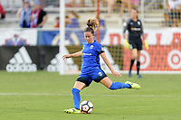 Frisco, TX - Sunday September 03, 2017: Lauren Barnes during a regular season National Women's Soccer League (NWSL) match between the Houston Dash and the Seattle Reign FC at Toyota Stadium in Frisco Texas. The match was moved to Toyota Stadium in Frisco Texas due to Hurricane Harvey hitting Houston Texas.