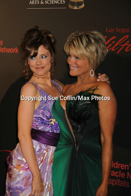 Molly Burnett & Judi Evans at the 38th Annual Daytime Entertainment Emmy Awards 2011 held on June 19, 2011 at the Las Vegas Hilton, Las Vegas, Nevada. (Photo by Sue Coflin/Max Photos)