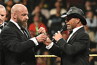 NEW YORK, NY - APRIL 6: Triple H and Sean Michaels at the 2019 WWE Hall Of Fame Ceremony at the Barclay's Center in Brooklyn, New York City on April 6, 2019.      <br /> CAP/MPI/GN<br /> ©GN/MPI/Capital Pictures