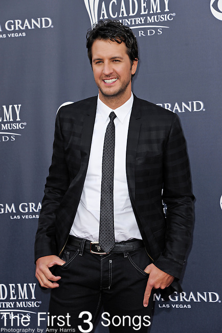 Luke Bryan attends the 46th Annual Academy of Country Music Awards in Las Vegas, Nevada on April 3, 2011.