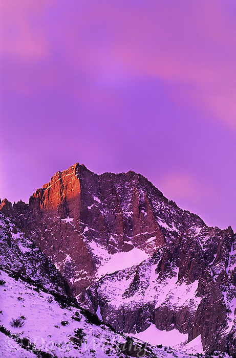 742900466 sunrise alpenglow lights up the craggy peaks of the eastern sierras near middle palisades glacier in kern county california
