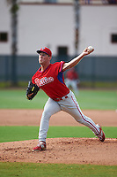 Philadelphia Phillies pitcher Tyler Gilbert (41) during an instructional league game against the Toronto Blue Jays on October 3, 2015 at the Carpenter Complex in Clearwater, Florida.  (Mike Janes/Four Seam Images)