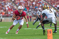 STANFORD, CA - SEPTEMBER 13, 2014: Christian McCaffrey  during Stanford's game against Army. The Cardinal defeated the Black Knights 35-0.