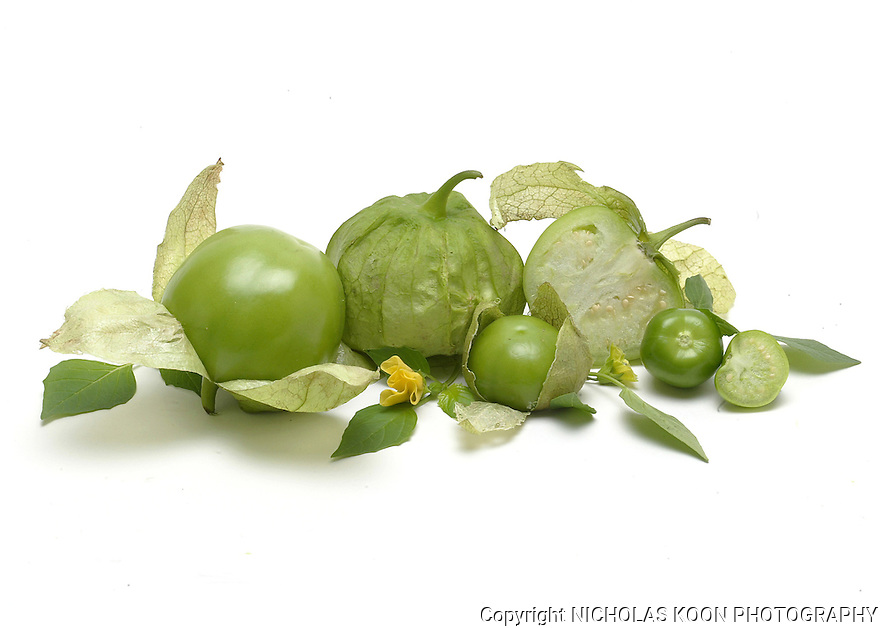 Tomatillo still life.