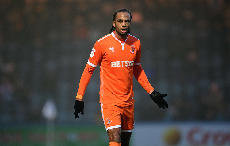 Blackpool's Nathan Delfouneso<br /> <br /> Photographer Chris Vaughan/CameraSport<br /> <br /> The EFL Sky Bet League One - Rochdale v Blackpool - Wednesday 26th December 2018 - Spotland Stadium - Rochdale<br /> <br /> World Copyright © 2018 CameraSport. All rights reserved. 43 Linden Ave. Countesthorpe. Leicester. England. LE8 5PG - Tel: +44 (0) 116 277 4147 - admin@camerasport.com - www.camerasport.com