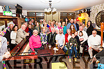 Rosarie Cournane seated 7th from the right from Renard celebrated her 70th birthday with family and friends in The Fertha Bar Cahersiveen on Friday night.