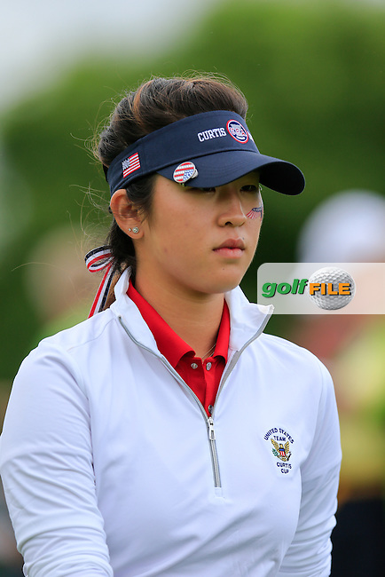 Andrea Lee during Sunday Singles matches at the 2016 Curtis cup from Dun Laoghaire Golf Club, Ballyman Rd, Enniskerry, Co. Wicklow, Ireland. 12/06/2016.<br /> Picture Fran Caffrey / Golffile.ie<br /> <br /> All photo usage must carry mandatory copyright credit (&copy; Golffile | Fran Caffrey)