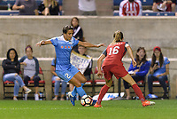 Bridgeview, IL - Saturday August 12, 2017: Jennifer Hoy during a regular season National Women's Soccer League (NWSL) match between the Chicago Red Stars and the Portland Thorns FC at Toyota Park. Portland won 3-2.