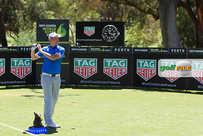 James Allan (ENG) on the 2nd tee during Round 1of the ISPS Handa World Super 6 Perth on Thursday 16th February 2017.<br /> Picture:  Thos Caffrey / Golffile<br /> <br /> All photo usage must carry mandatory copyright credit     (&copy; Golffile | Thos Caffrey)