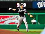 22 April 2010: Colorado Rockies' shortstop Troy Tulowitzki in action during a game against the Washington Nationals at Nationals Park in Washington, DC. The Rockies shut out the Nationals 2-0 gaining a 2-2 series split. Mandatory Credit: Ed Wolfstein Photo