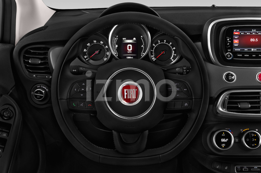 Car pictures of steering wheel view of a 2017 Fiat 500X Trekking 5 Door SUV Steering Wheel