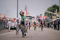 Peter Sagan (SVK/Bora-Hansgrohe) wins teh stage<br /> <br /> Stage 13: Bourg d'Oisans &gt; Valence (169km)<br /> <br /> 105th Tour de France 2018<br /> &copy;kramon