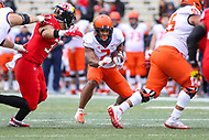 College Park, MD - October 27, 2018: Illinois Fighting Illini running back Reggie Corbin (2) runs the ball during the game between Illinois and Maryland at  Capital One Field at Maryland Stadium in College Park, MD.  (Photo by Elliott Brown/Media Images International)