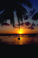 Golden sunset in the Bahamas, Harbour Island