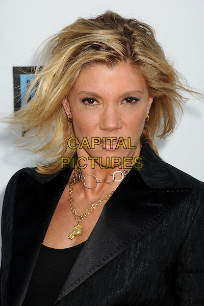 "JACKIE WARNER.Bravo's 2nd Annual ""The A-List Awards"" held at The Orpheum Theatre, Los Angeles, CA, USA..April 5th, 2009.headshot portrait black gold silver necklaces .CAP/ADM/BP.©Byron Purvis/AdMedia/Capital Pictures."
