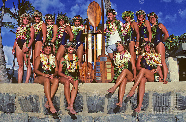 Outrigger Canoe Club Women's team, Women's Molokai to Oahu canoe race.