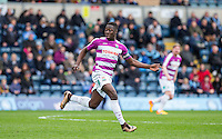 Goal scorer Andy Yiadom of Barnet during the Sky Bet League 2 match between Wycombe Wanderers and Barnet at Adams Park, High Wycombe, England on 16 April 2016. Photo by Andy Rowland.
