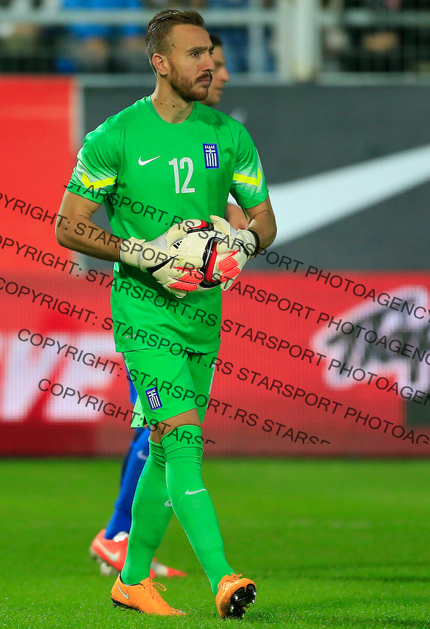 Fudbal<br /> Prijateljski mec-Friendly match<br /> Srbija v Grcka<br /> Goalkeeper Panagiotis Glykos<br /> Chania, 17.11.2014.<br /> foto: Srdjan Stevanovic/Starsportphoto &copy;