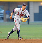 Infielder Andrelton Simmons (5) of the Danville Braves in a game against the Pulaski Mariners on July 19, 2010, at Calfee Park in Pulaski, Va. Simmons is the Atlanta Braves' 2nd round pick in the 2010 Draft. Photo by: Tom Priddy/Four Seam Images