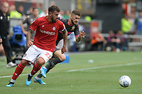 Leeds United's Mateusz Klich gets away from Bristol City's Marlon Pack<br /> <br /> Photographer Ian Cook/CameraSport<br /> <br /> The EFL Sky Bet Championship - Bristol City v Leeds United - Sunday 4th August 2019 - Ashton Gate Stadium - Bristol<br /> <br /> World Copyright © 2019 CameraSport. All rights reserved. 43 Linden Ave. Countesthorpe. Leicester. England. LE8 5PG - Tel: +44 (0) 116 277 4147 - admin@camerasport.com - www.camerasport.com