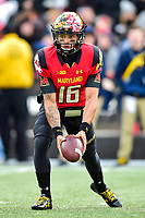 College Park, MD - NOV 11, 2017: Maryland Terrapins quarterback Ryan Brand (16) in action during game between Maryland and Michigan at Capital One Field at Maryland Stadium in College Park, MD. (Photo by Phil Peters/Media Images International)