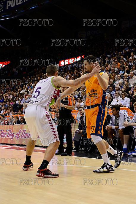 Martínez vs Causeur<br /> Euroleague - 2014/15<br /> Regular season Round 4<br /> Valencia Basket vs Laboral Kutxa Vitoria