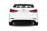 Straight rear view of a 2015 Hyundai Elantra Sport 4 Door Sedan Rear View  stock images
